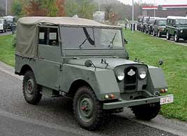 Legerjeep Minerva Land Rover 1952.