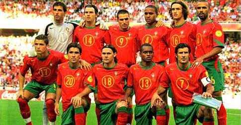 Portugal Europees zilver 2004.