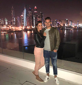 ...en beiden samen in Dubai in december 2017.