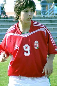 Vágó Fanny in 2007, international 16 jaar oud!.