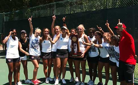 Het team Barry University Bucs dat, met Szávay Blanka, het NCAA Division II Women's Tennis Championship won in 2014.